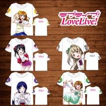 Anime LoveLive! Schoolidolproject T-shirt Men Women Short Sleeve Summer dress  Cartoon t shirt