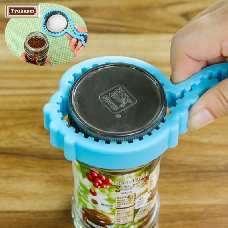 Functional Container Bottle Jar Lid Can Opener Hand Easy Twist Kitchen Tool, Silicon Jar Opener, Screw Cap Jar Bottle Wrench