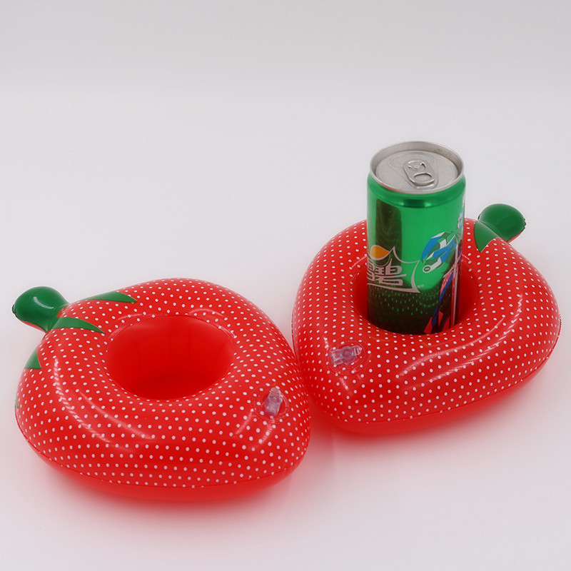 Strawberry Mini Float Inflatable Drink Holder Swimming Pool Bathroom Party Kids Bath Cup Holder Inflatable cup holder