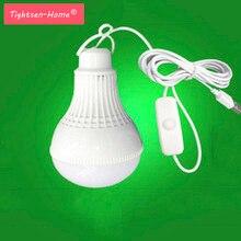 USB led 캠핑 램프 5V 9W LED 전구 휴대용 램프 스위치 캠핑 텐트 여행 전원 은행 노트북
