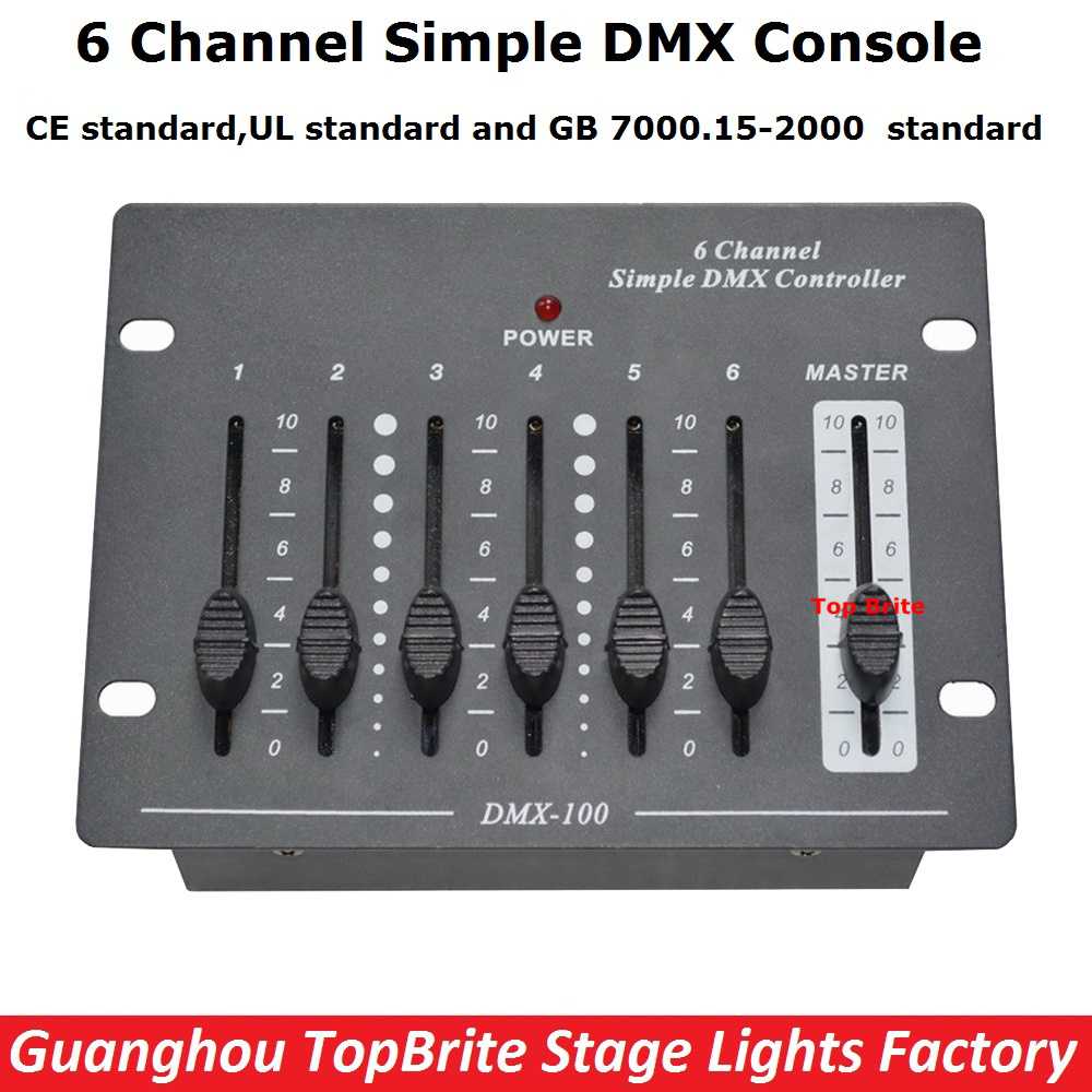 New Arrival 6 Channel Simple DMX Console Stage Lighting Disco Equipments Controller For Led Moving Head Spotlights Dj controller niugul dmx stage light mini 10w led spot moving head light led patterns lamp dj disco lighting 10w led gobo lights chandelier