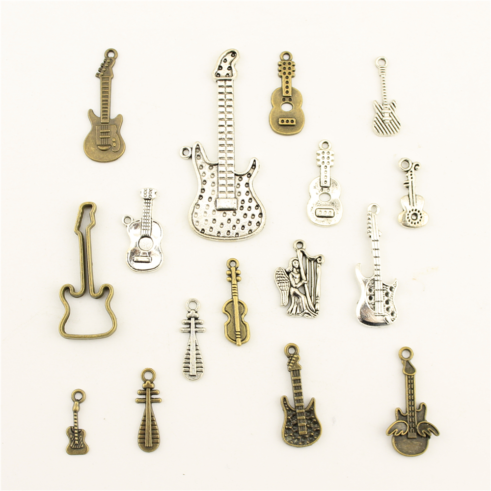 Jewelry Female Musical Instrument Guitar Pipa Diy Accessories
