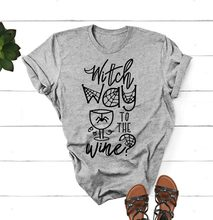 4f6d36e61 Witch Way to the Wine Halloween T-Shirt Casual Slogan Funny Grunge Tee  Graphic Cotton