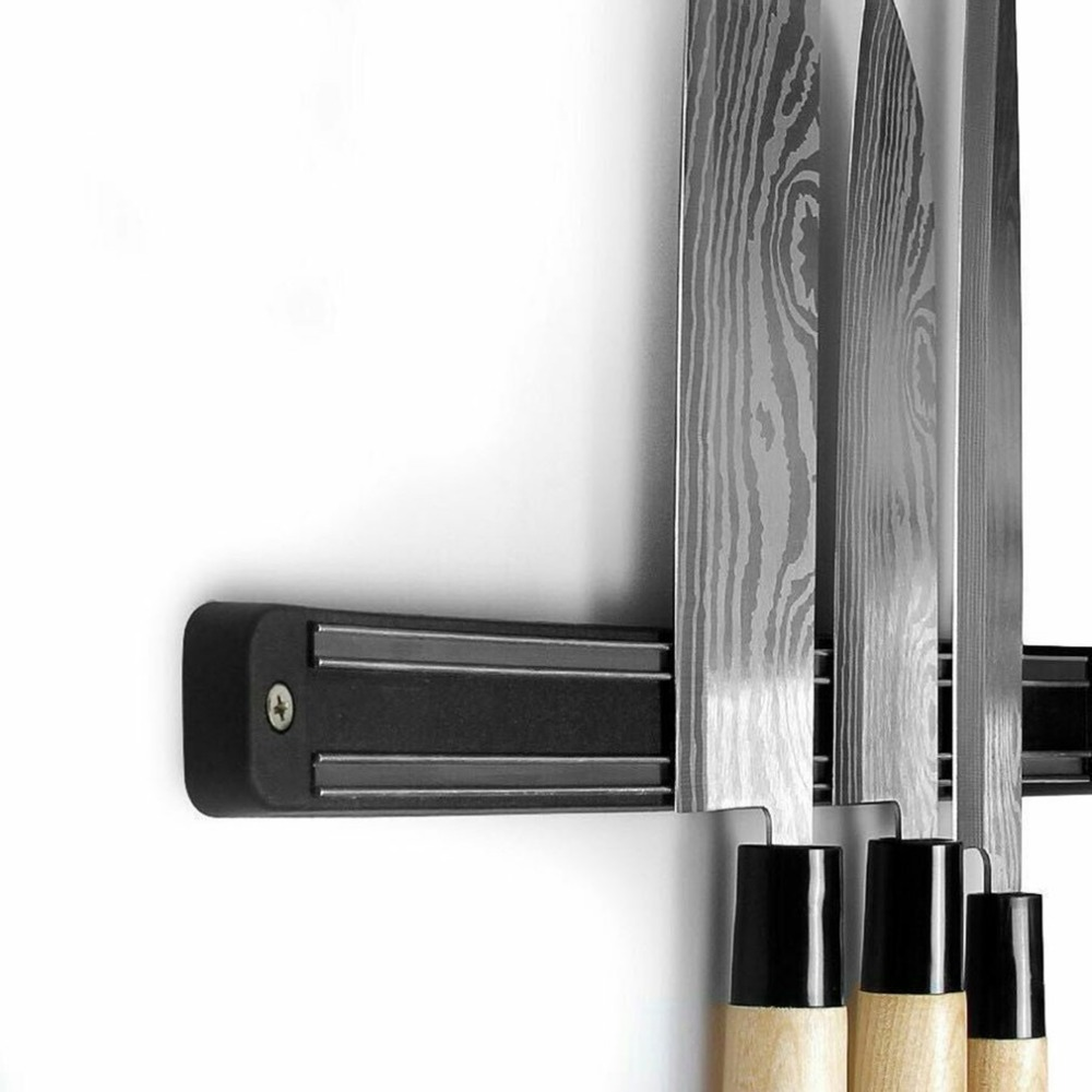 Wall Mount Magnetic Knife Scissor Storage Holder Magnet Strip Organizer Practical Kitchen Tools Pub Bar Counter Organizer