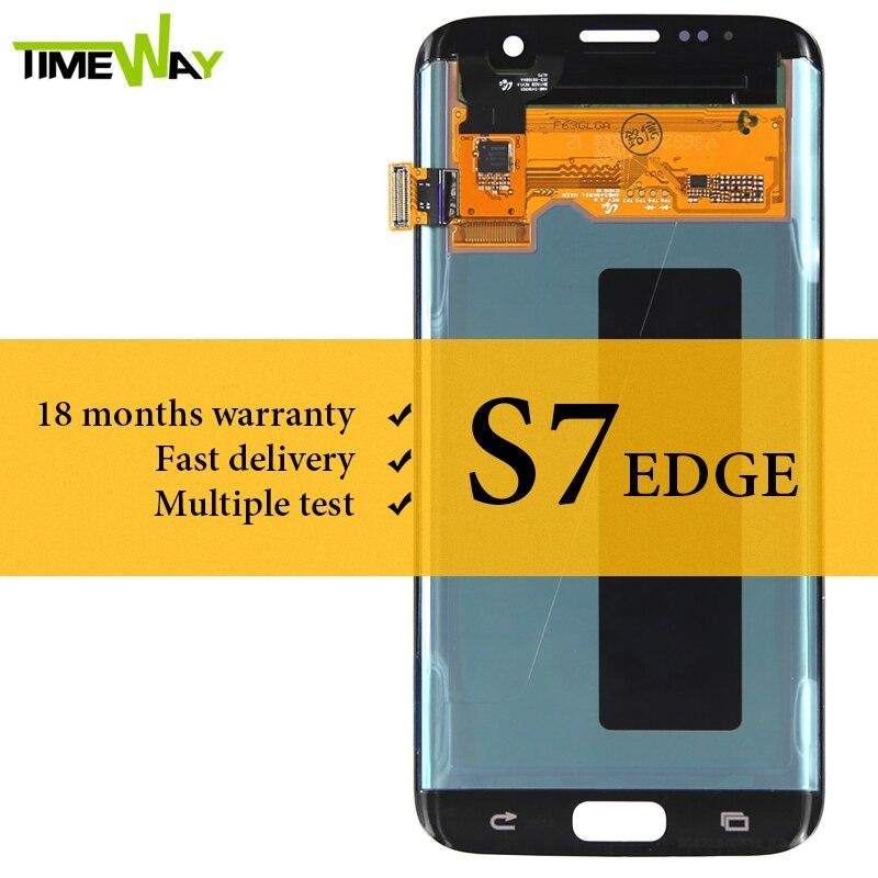 100% Testé Pour Samsung S7 Bord LCD Dispaly Avec Écran Tactile Assemblée Super AMOLED Pour Samsung G935 G935F G935A LCD écran