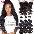 Lace Frontal Closure With Bundles Peruvian Virgin Hair With Frontal Closure Human Hair 3 Bundles Peruvian Body Wave With Closure