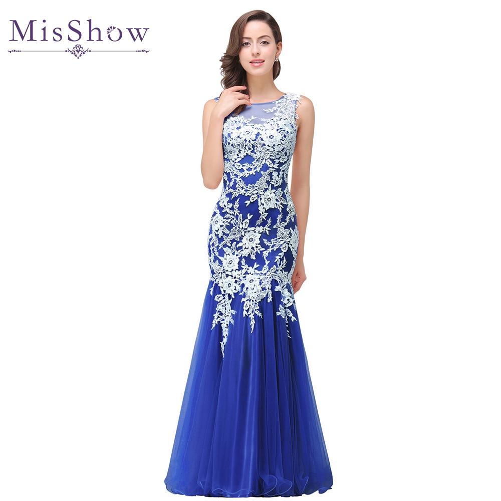Popular White Royal Blue Evening Gown-Buy Cheap White Royal Blue ...