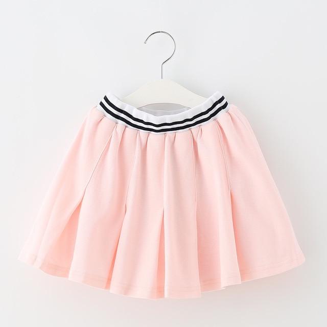 936862d46e Cotton Big Little Girls Skirts Spring Summer 2018 New Pleated Mini Skirt  Girls White Black Pleated Skirt Children Clothing