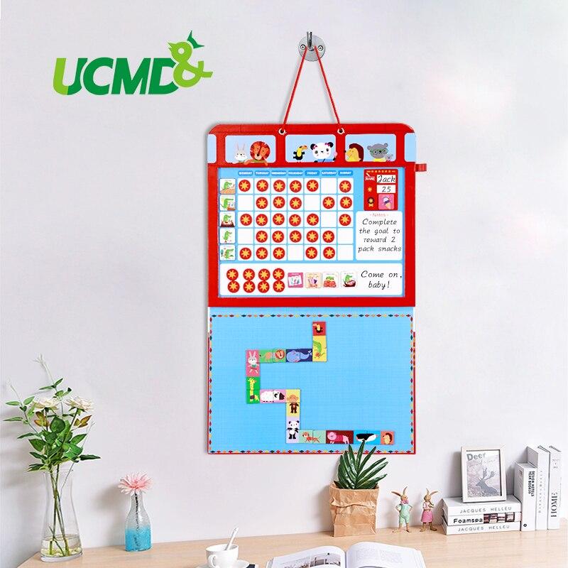 Impression décorative calendrier mural enfants croissance récompense corvée comportement graphiques tableau suspendu effaçable à sec hebdomadaire planificateur enfants jouets