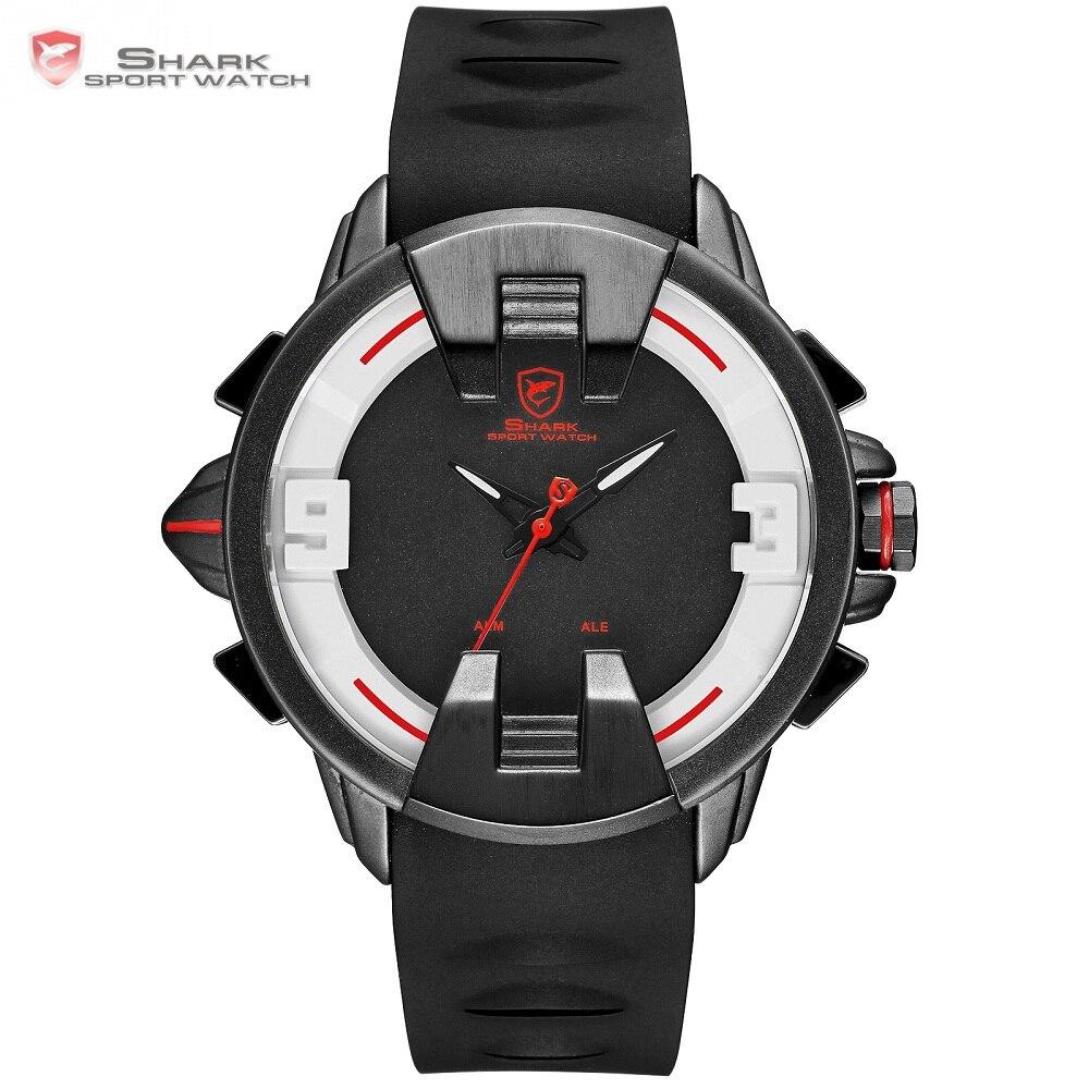 Новый Wobbegong Акула бренд мужской часы будильник Dual Time цифровой аналоговый Дисплей для мужчин кварцевые спортивные часы тег Relogio часы/SH559