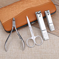Portable Stainless steel Nail Art Manicure Set Nail Care Tools with Mini Finger Nail Cutter Clipper File Scissor Tweezers