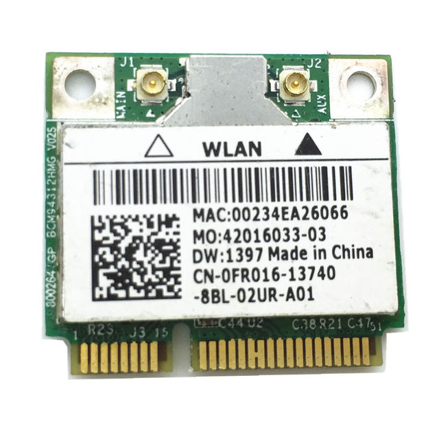 Wireless Adapter Card for Broadcom BCM94312HMG BCM4312  Wifi Half Mini pci-e card for DELL DW1397  WLAN