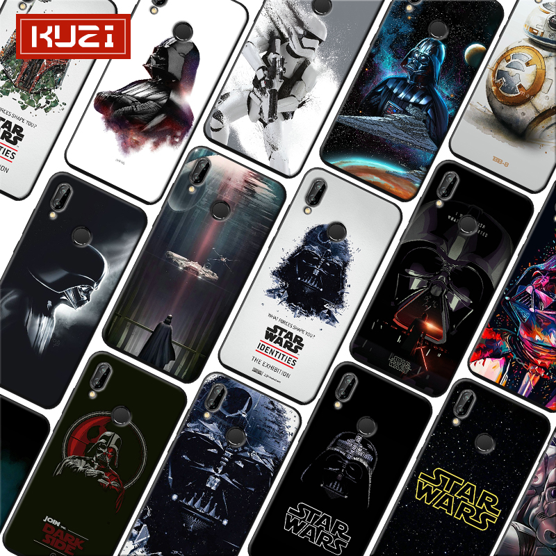Star Wars BB8 Darth Vader Soft Silicone Phone Case for xiaomi redmi note 7 k20 pro 7 note 5 6 4x 7a in Half wrapped Cases from Cellphones Telecommunications