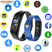 Fitness Tracker C1Plus Color Screen Smart Bracelet Blood Pressure Heart Rate Monitor Band New for Sport Climbing