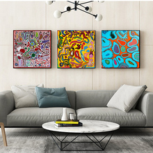 Yayoies Kusamaer Cartoon Wallpaper Canvas Posters Prints Marble Abstract Wall Art Painting Decorative Picture Modern Home Decor