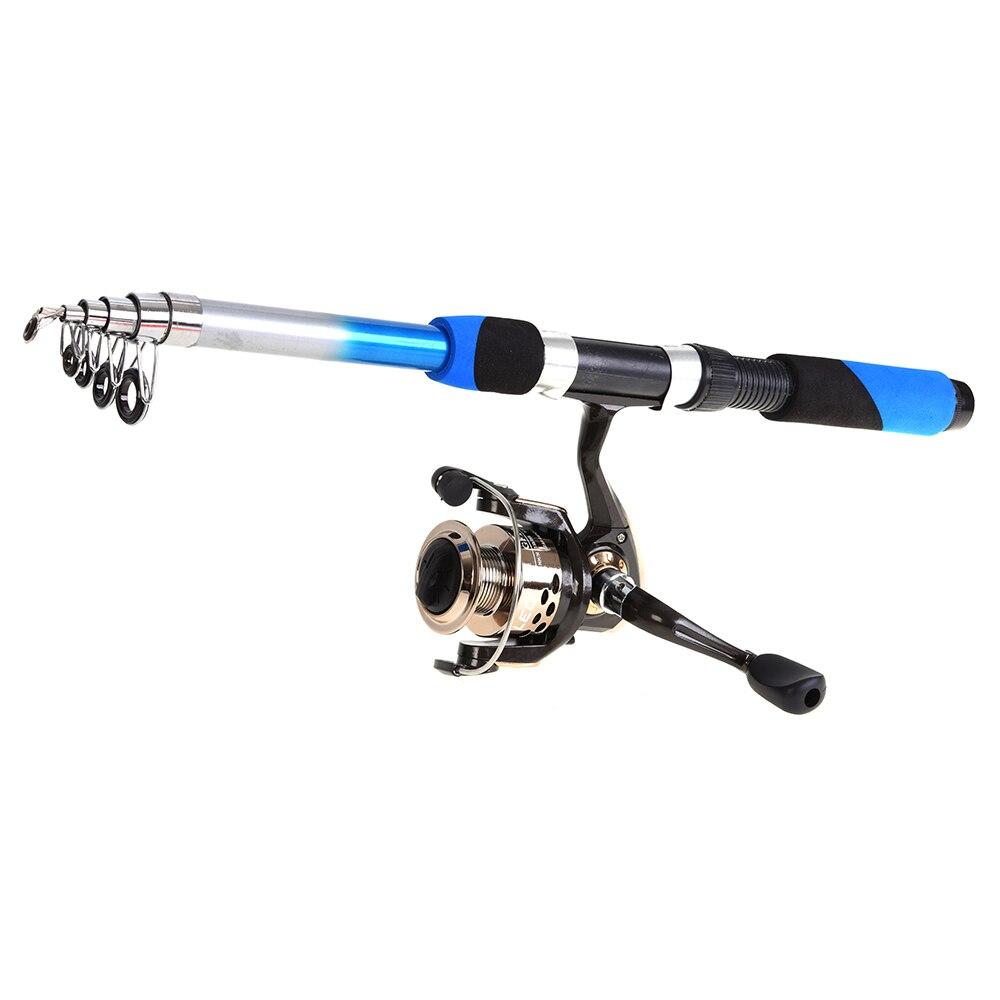 Lixada vara de pesca telescópica conjunto combinado