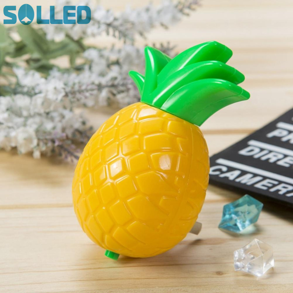 SOLLED 2017 3D Pineapple Night Lights Style LED Canopy Letter Night Lamp For Baby Bedroom Decoration Kids Gift M01 TH