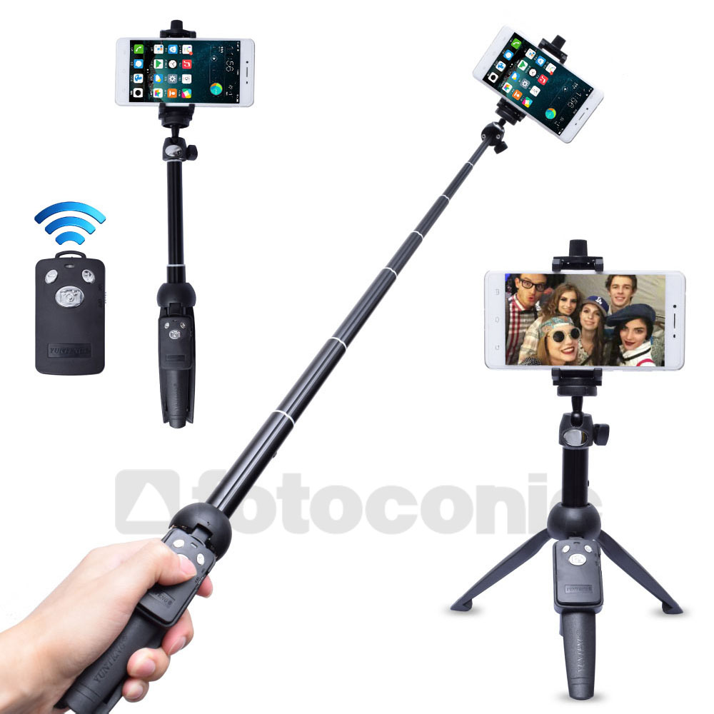 Fotoconic YT-9928 Handheld Extendable Tripod Monopod Camera Phone Selfie Stick with Bluetooth Remote Shutter for iPhone Gopro
