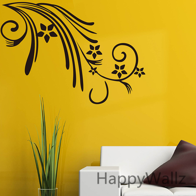Flowers wall sticker beautiful flower wall decal diy decorating floral wines sticker flower wallpapers f53