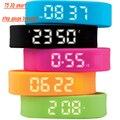 Tendências de smart 3d passo calibre assista pulseira relógio de pulso dos esportes da forma ao ar livre passo medidor & data & distance calorias & tempo de saúde relógio de pulso
