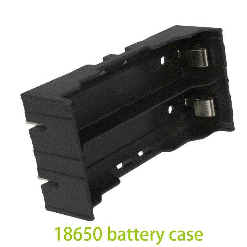 1200 pcs/lot Plastique Noir 18650 De stockage de cellules support de la boîte Pour 2 pièces 18650 Piles rechargeables Test Outil D'étude Convertisseur - 2