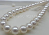 Prett Lovely Women's Wedding Wholesale free shipping >>Details about GENUINE HUGE AAA 18 11 12MM ROUND SOUTH SEA WHITE PEARL NE