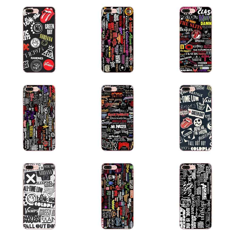 Sh Metal Banda de Rock Pop TPU Abranger Os Casos Para Apple iPhone 4 4S 5 5C 5S SE 6 6 S 7 8 Plus X XS Max XR