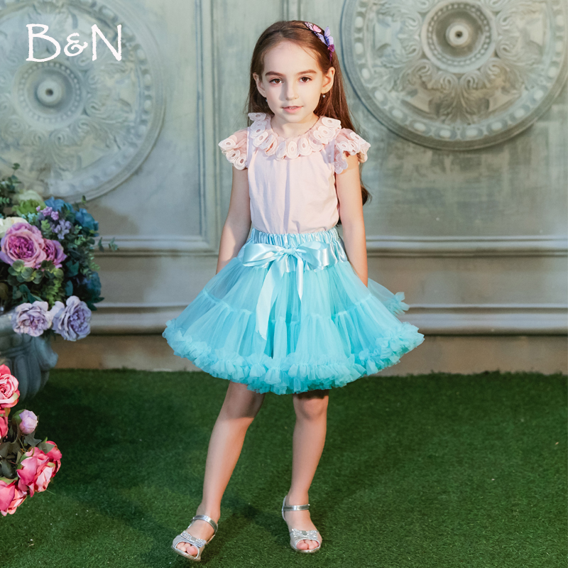 Pettiskirt with Ruffle baby Tutu skirt one piece retail girl skirt Baby Girl ball gown girls tutu ballet skirt girls tiered ruffle hem flare skirt