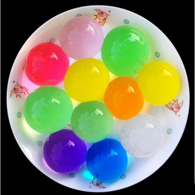 30 Pcs/set Crystal EVA Absorbent Beads Soak Growing In The Water Jelly Ball Toys for Children Novelty Funny Toy Games Cute Gifts
