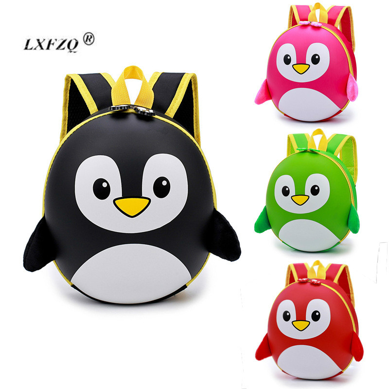 LXFZQ New EVA Penguin Orthopedic Schoolbag Children Backpack Hard Shell Backpack Kids Cartoon Mini Shoulder Bag Kids Cute Bags