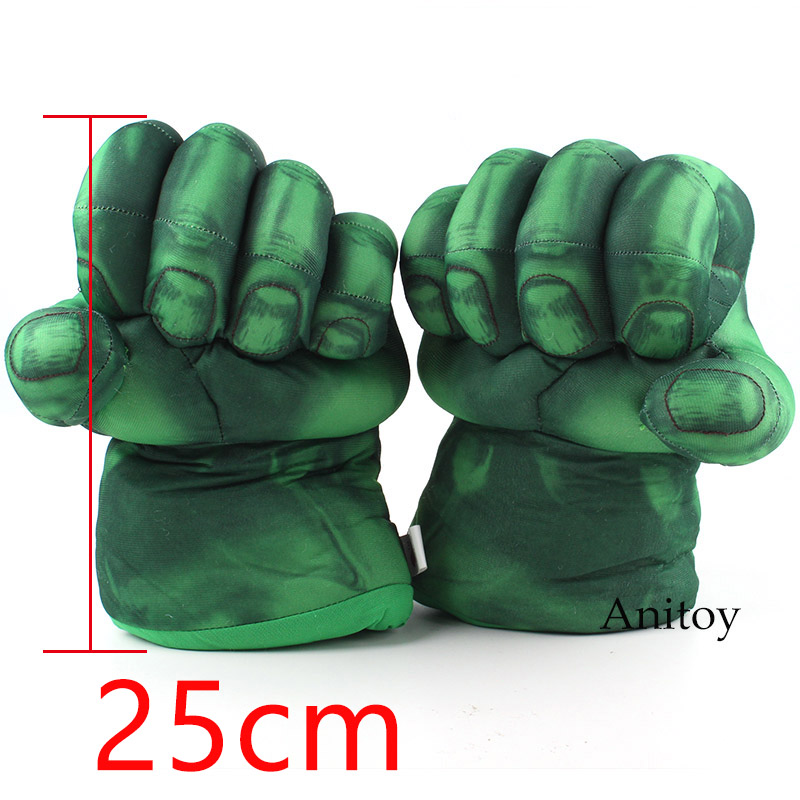 The Incredible Hulk Gloves Plush Toy Superhero Marvel Toys Cosplay Christmas Gift for Kids Children Toy 25cm