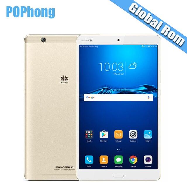"Международный Встроенная память Huawei MediaPad M3 4 ГБ Оперативная память 32/64/128 ГБ Встроенная память 8.4 ""Android 7.0 2 К Экран Планшеты PC Kirin950 Восьмиядерный s"