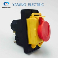Free Shipping Electromagnetic Switch Starter 7 Pin On Off 16A 230V With Protection Cover Waterproof YCZ4