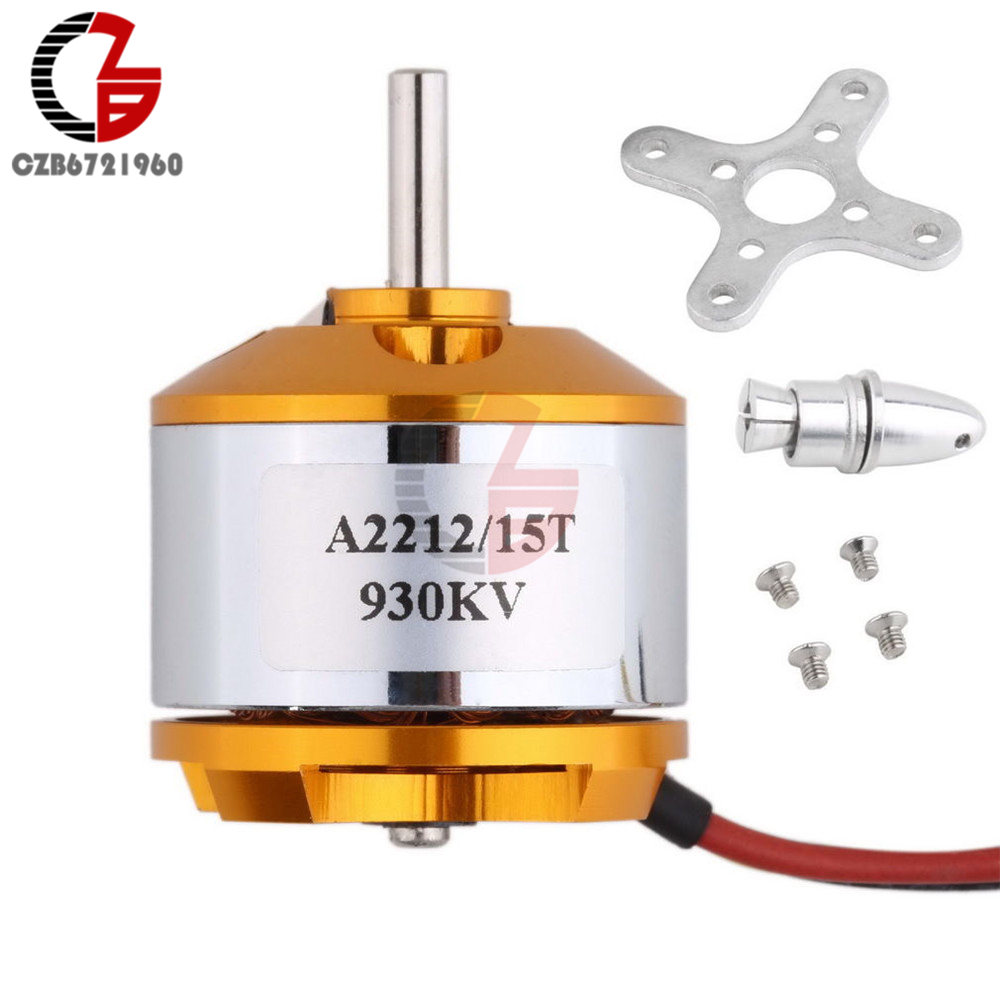 A2212 930Kv Brushless Outrunner Motor for RC Aircraft Quadcopter Helicopter Plane Multi-copter Bruhless Motor DIY x team xto 2212 850kv forward outrunner brushless motor for helicopter silver