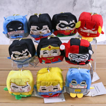 DC Batman Robin Superman Flaş Nightwing Aquaman Wonder Woman Supergirl Mini Kolye peluş oyuncaklar Bebekler 10 adet/grup(China)
