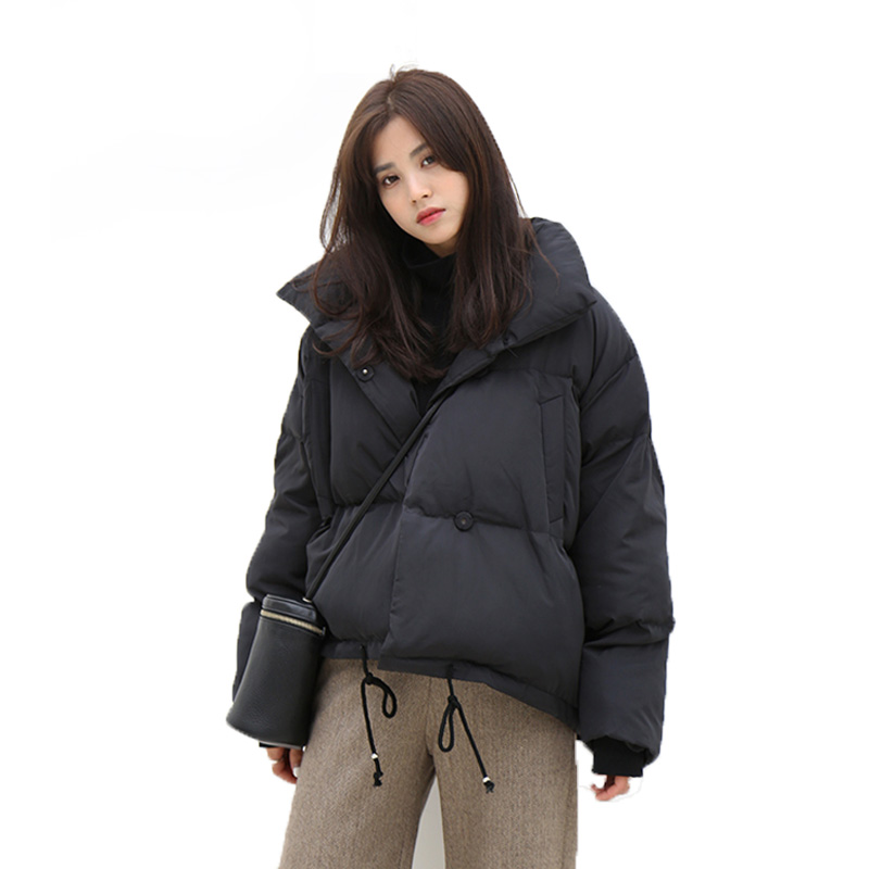 Winter Jacket Women 2018 90% White Duck Down Parkas Loose Warm Thicken Snow Short Outwear Female Fashion Stand Collar Overcoat