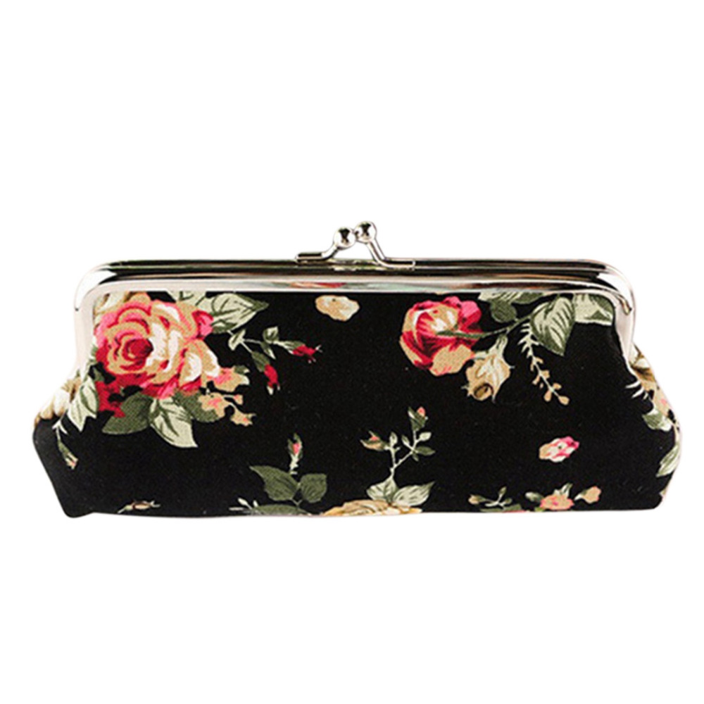 Hot Sale Women Coin Purse Retro Vintage Flower Canvas Wallet Girls Change Pocket Pouch Hasp Keys Purse Clutch Bag 4 pack compatible 932 xl 933 932xl 933xl inkjet ink cartridge for hp hp932 hp932xl officejet 6100 6600 6700 7110 7610 printer