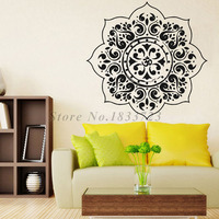 Yoga Wall Stickers Decoration For Bedroom Indian Mandalas Flower Pattern Wall Decals Vinyl Art