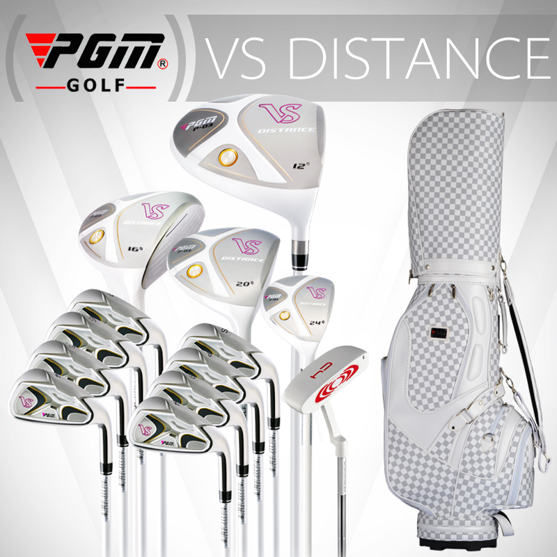PGM-VS for Ladies, Titanium alloy for the driver. Full golf set in graphite shaft. Professional Luxury golf clubs complete set free shipping pgm mens golf clubs complete set of graphite shaft with standard bag titanium alloy for rod