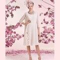 Мода мать Невесты Платья с Курткой Линии Длиной до колена Складки Свадебное Платье Партии Vestido де Женихи Мать платье