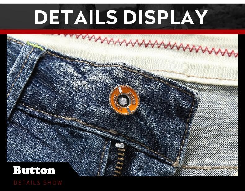KSTUN Shorts Jeans Men Summer 2019 Distressed Japanese Style Ripped Frayed Biker Denim Retro Knee