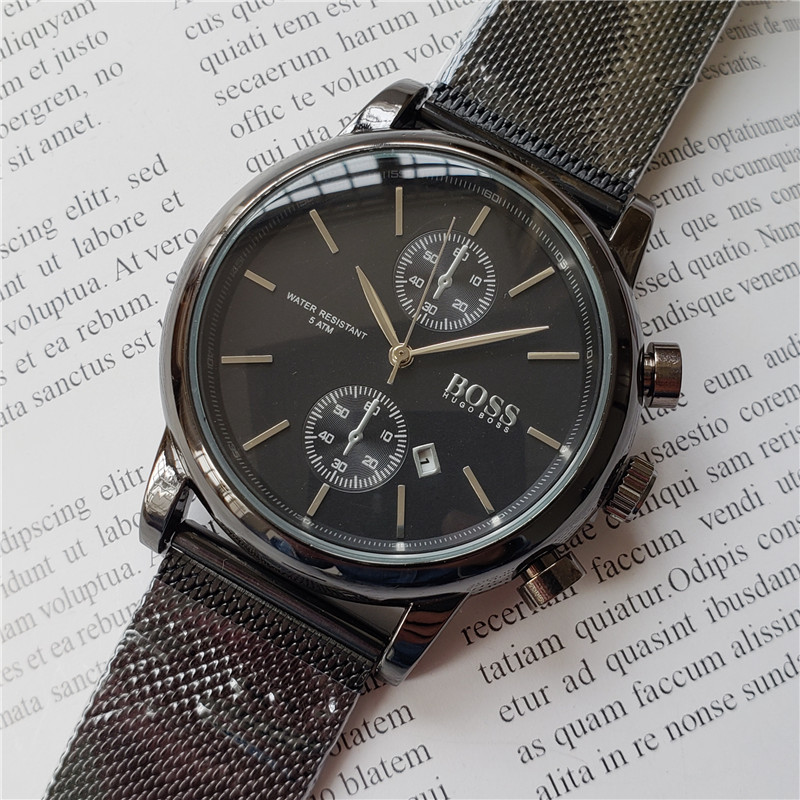 2019 Boss Luxury Top Brand Watches Mens Wrist Watches Mens Watches Stainless Steel Casual Quartz Analog Date Quartz Watches2019 Boss Luxury Top Brand Watches Mens Wrist Watches Mens Watches Stainless Steel Casual Quartz Analog Date Quartz Watches
