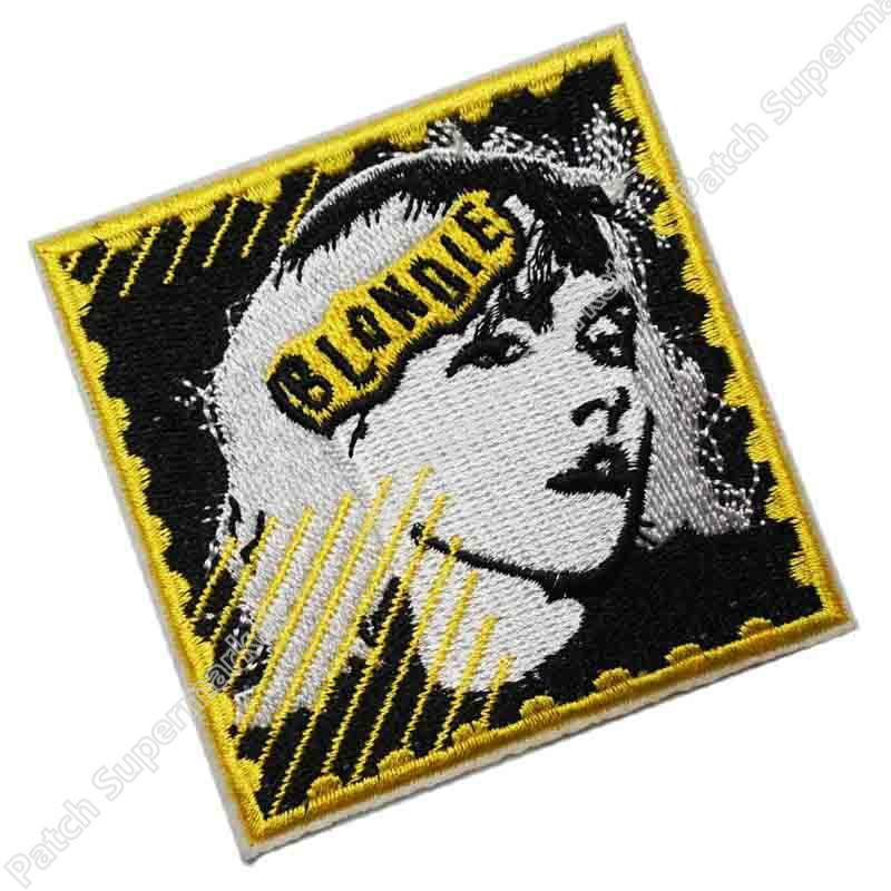 3 Blondie Postage Stamp Hippie Rock Punk retro applique iron on patch heavy metal music band