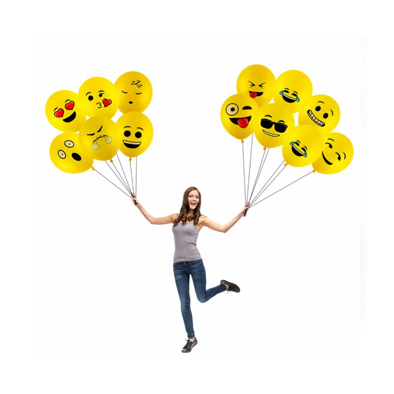 36inch Cartoon Large size Emoji Balloons Smiley Face Expression Yellow Latex Balloons baby shower girl kids birthday party decor in Ballons Accessories from Home Garden