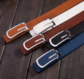 2015 new  fashion casual G letter design buckle PU leather belt for men and women jean belts male female  5 colors free shipping