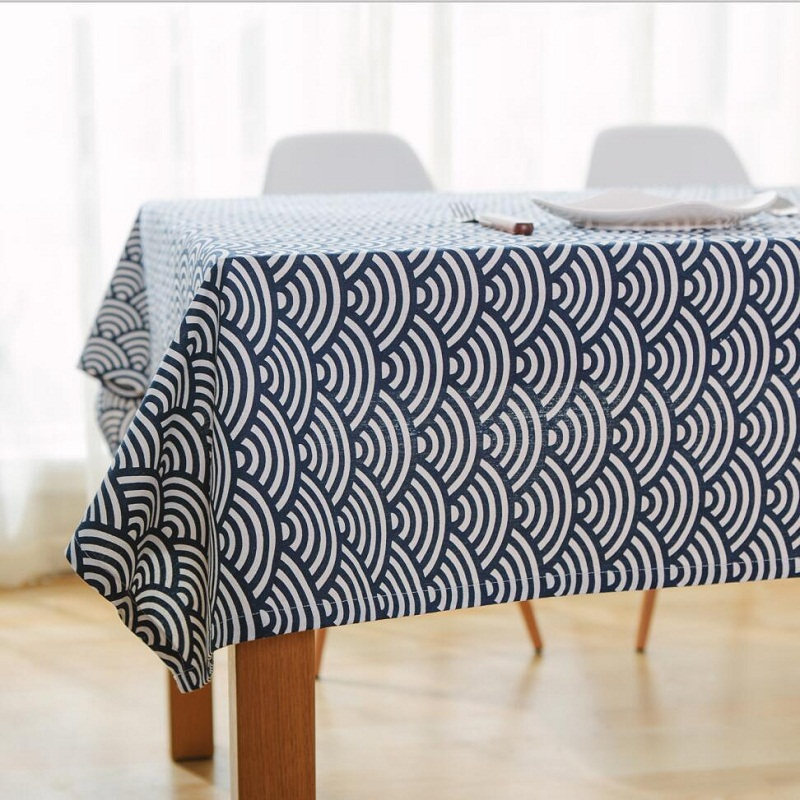 Cotton Tablecloth Japanese Totem Waves Table Runner Placemat Toalh Tablecloth For The Table TableclothS Table Cloth Table Cover