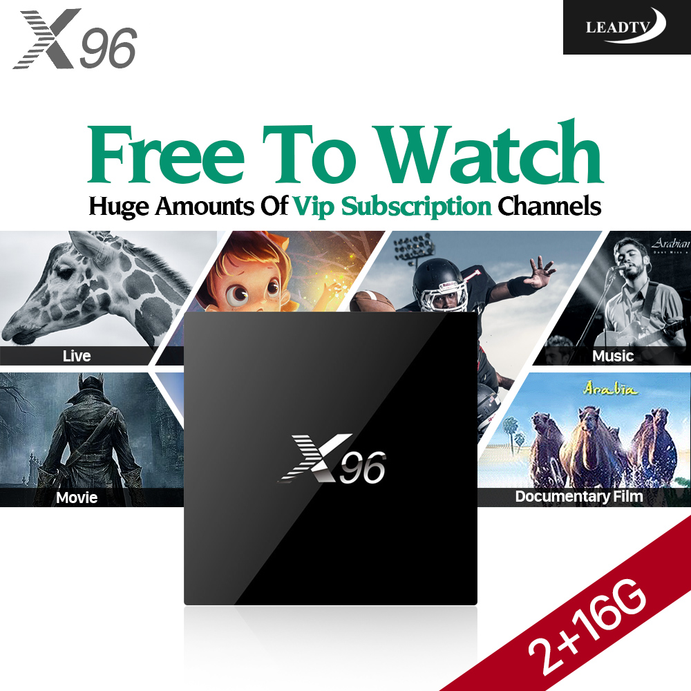 Dalletektv X96 2GB Android 6.0 Smart TV Set Top Box Amlogic S905X Wifi with Best 1 Year Arabic IPTV Account Leadtv Subscription 450260 b21 445167 051 2gb ddr2 800 ecc server memory one year warranty