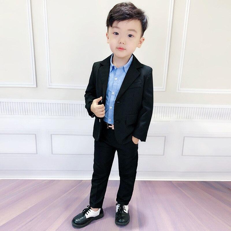 Han edition children suit boys suit flower suit wedding performance stage child boy clothes  Full  kids clothes boys ALI 319