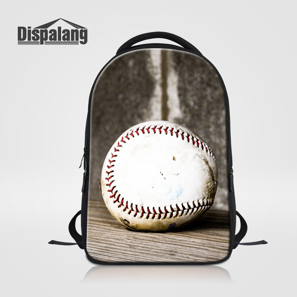 Dispalang Sporty Baseballs Print Backpack For Teenage Boys Men Casual Daypacks Laptop School Bags Bookbags For Students Rucksack dispalang brand laptop backpack flamingo pattern multifunction rucksack men casual daypacks unisex school bookbags bagpacks pack