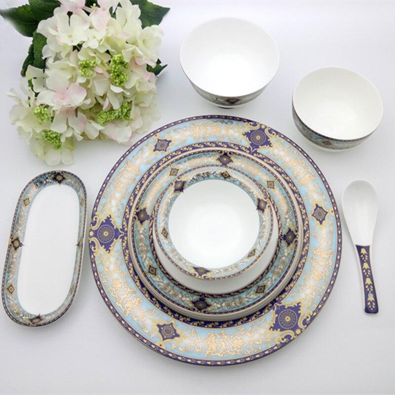 Western Salad Dishes: Bone China Western Flat Plates Steak Plates Salad Dish
